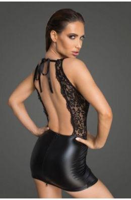 Minikleid mit Rückenausschnitt - Schwarz