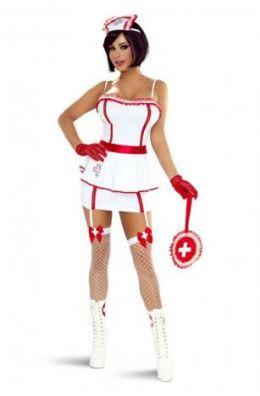 Aufwendiges Krankenschwester Kostüm mit umfangreichen Zubehör