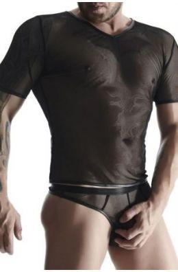 Figurbetontes schwarzes T-Shirt für Männer
