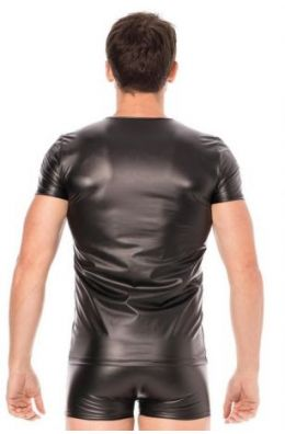 Schwarze Wetlook T-Shirt
