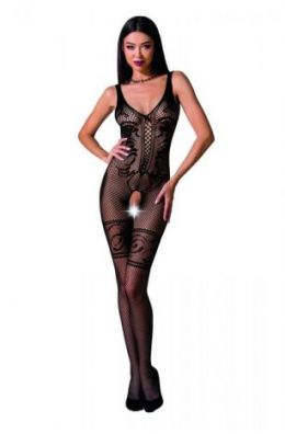 Schwarzer ouvert Catsuit