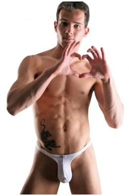 Weißer Männer Ministring | Stripper String | String-Tangas für Herren