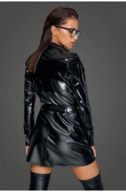 Schwarzer Trenchcoat von Noir Handmade MissBehaved Collection