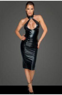 Kleid mit tiefem Dekolleté - Schwarz
