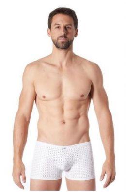 Weiße Herren Boxer Shorts aus Kunstleder