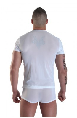 Herren T-Shirt Weiß Open Heart von Look Me