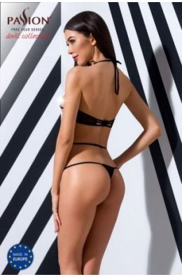 Schwarzer Body aus feinem Netz mit Bändern