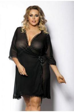 Schwarzer Kimono von Anais Apparel Plus Size